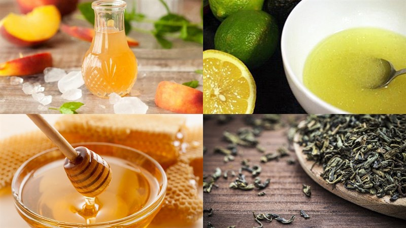 Nguyên liệu món ăn trà chanh đào