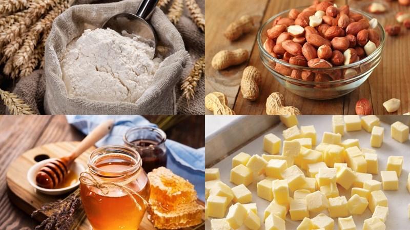 Nguyên liệu món ăn bánh mì nhân mật ong bằng chảo