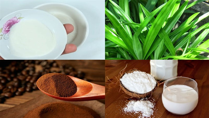 Nguyên liệu món ăn 2 cách làm rau câu lá dứa sữa dừa