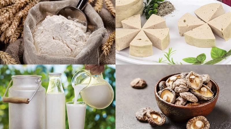 Nguyên liệu món ăn bánh bao chay chiên