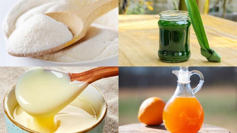 Nguyên liệu món ăn thạch rau câu sợi mì giòn