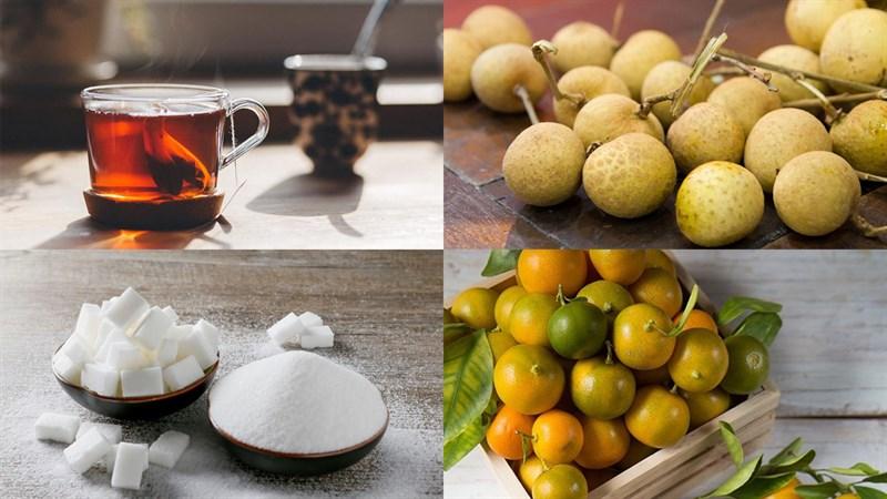 Nguyên liệu món ăn 2 cách pha trà long nhãn tắc và trà long nhãn ô long