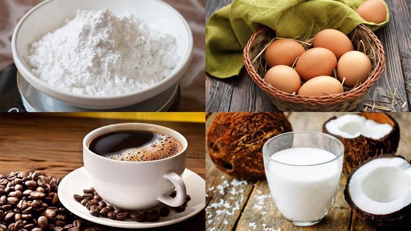 Nguyên liệu món ăn bánh bò nướng cà phê