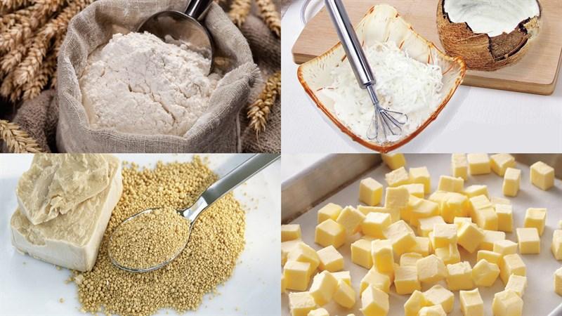 Nguyên liệu món ăn bánh mì sữa dừa