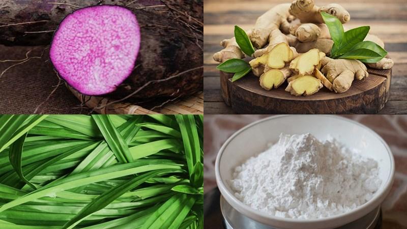 Nguyên liệu món ăn chè khoai mỡ (khoai tím) dẻo
