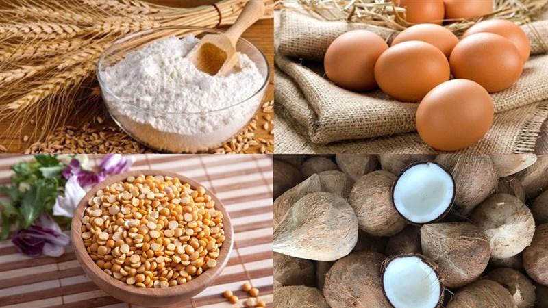 Nguyên liệu món ăn bánh dừa cadé