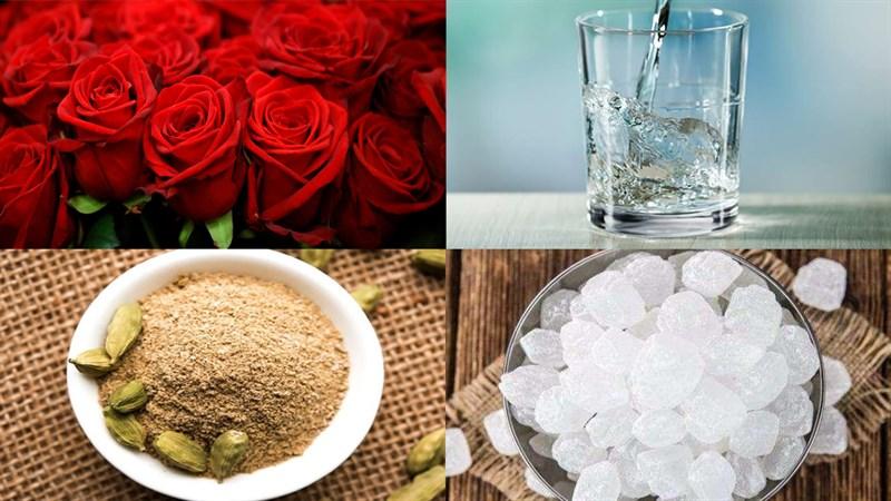 Nguyên liệu món ăn siro hoa hồng