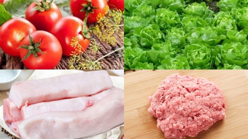 Nguyên liệu món ăn nước sốt cà chua