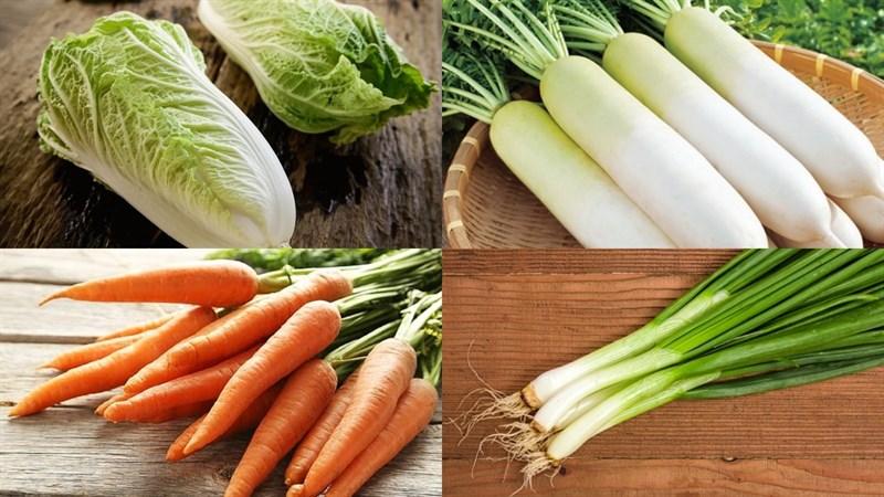 Nguyên liệu món ăn cải thảo muối