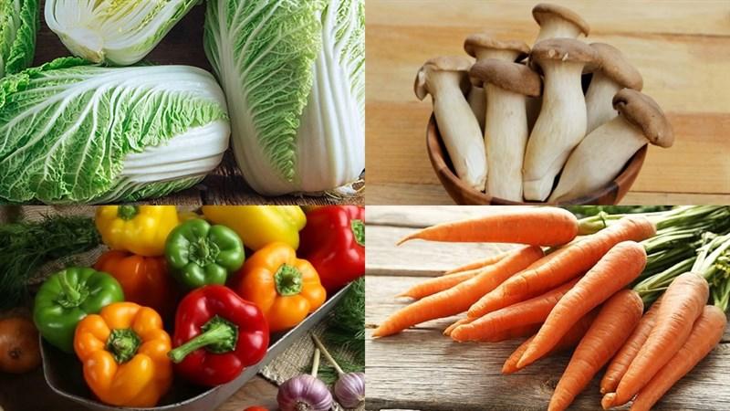 Nguyên liệu món ăn cải thảo xào nấm đùi gà, cải thảo xào nấm mèo