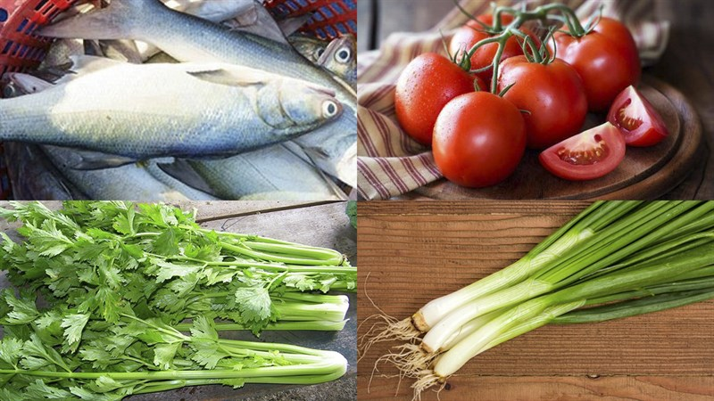 Nguyên liệu món ăn cá chét (cá nhụ) chiên giòn và chiên sốt cà