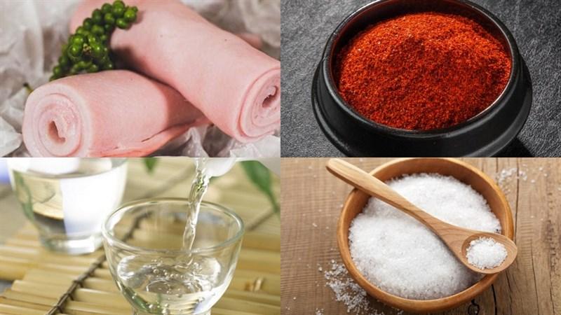 Nguyên liệu món ăn 4 cách làm da heo nướng
