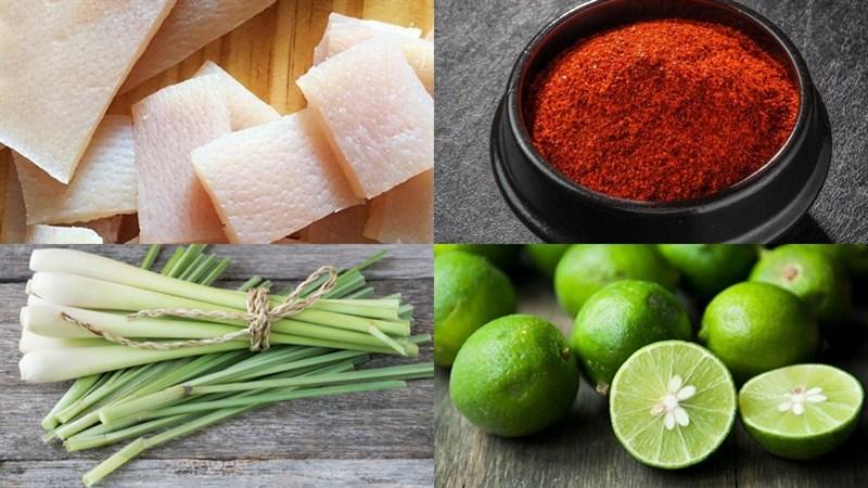 Nguyên liệu món ăn da heo lắc muối ớt