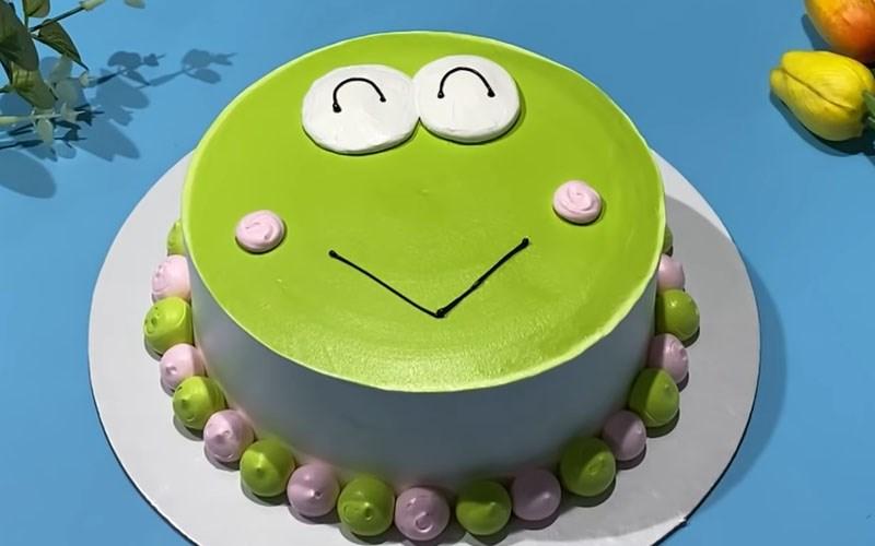 Bánh kem chú ếch xanh