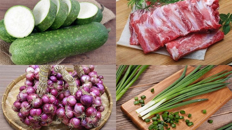 Nguyên liệu món ăn 2 cách nấu canh bí đao nấu xương và nấu thịt