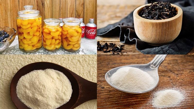 Nguyên liệu món ăn trà sữa đào