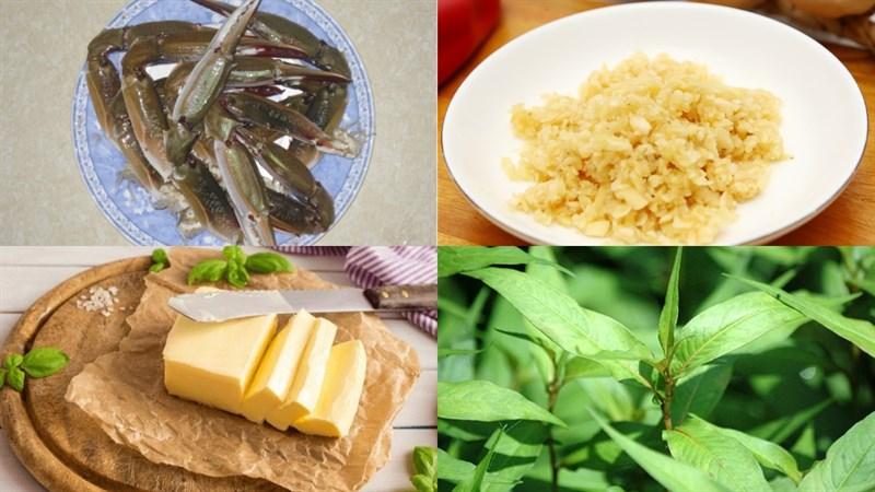 Nguyên liệu món ăn ghẹ xào