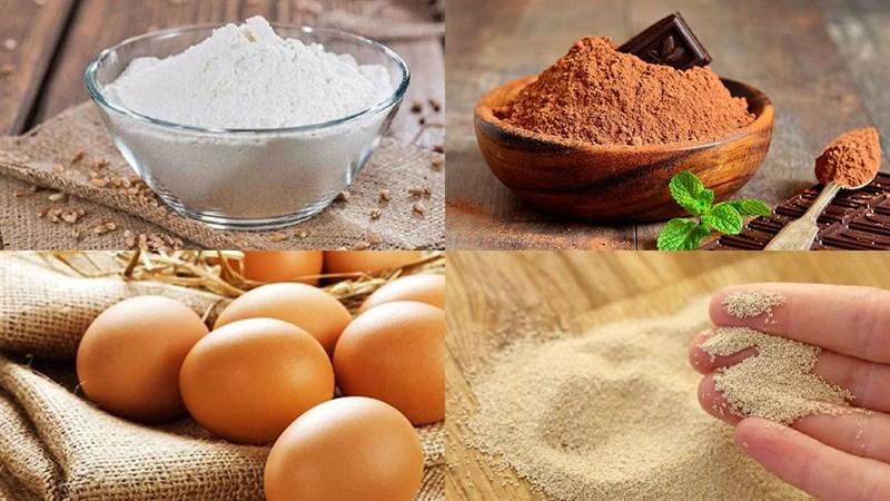 Nguyên liệu món ăn 2 cách làm bánh mì nhân socola bằng chảo