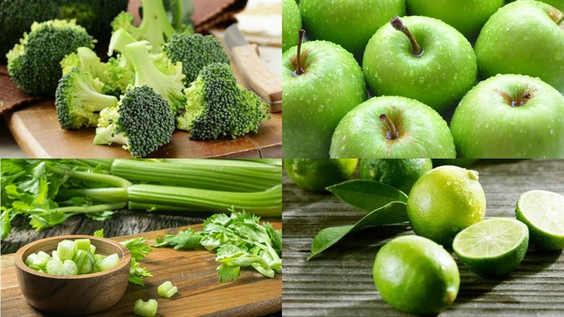 Nguyên liệu món ăn nước ép súp lơ xanh