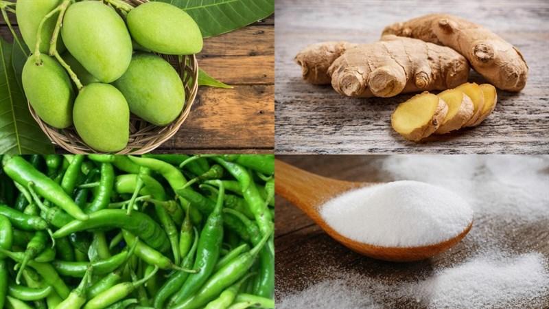 Nguyên liệu món ăn nước ép xoài xanh