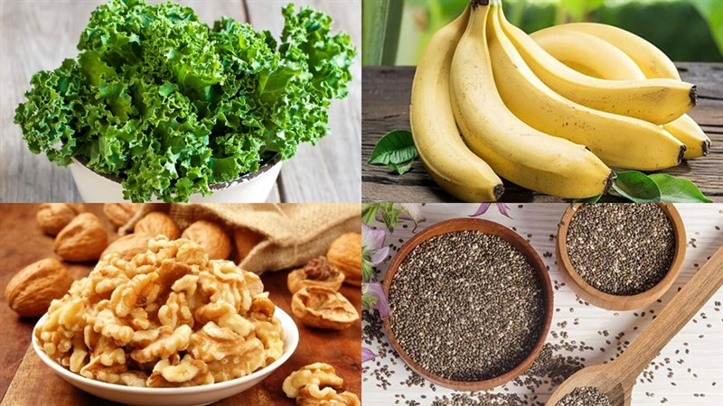 Nguyên liệu món ăn sinh tố chuối cải xoăn