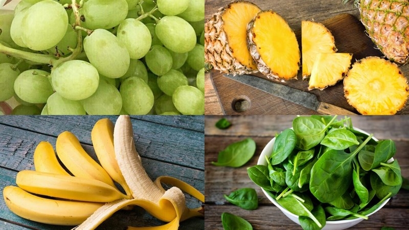 Nguyên liệu món ăn sinh tố nho xanh