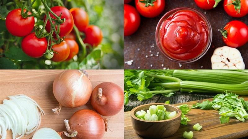 Nguyên liệu món ăn nước sốt cà chua pizza