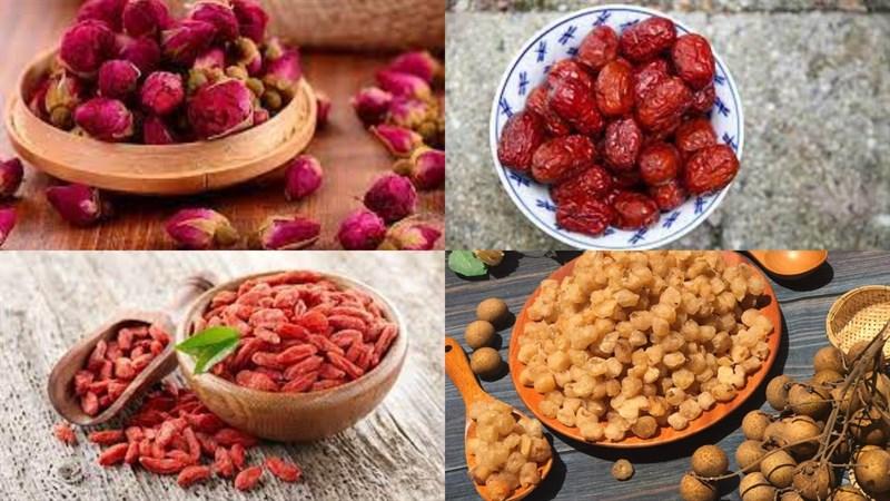 Nguyên liệu món ăn trà dưỡng nhan