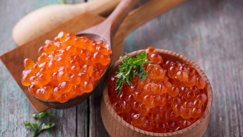 Trứng cá hồi cung cấp protein chất lượng cao
