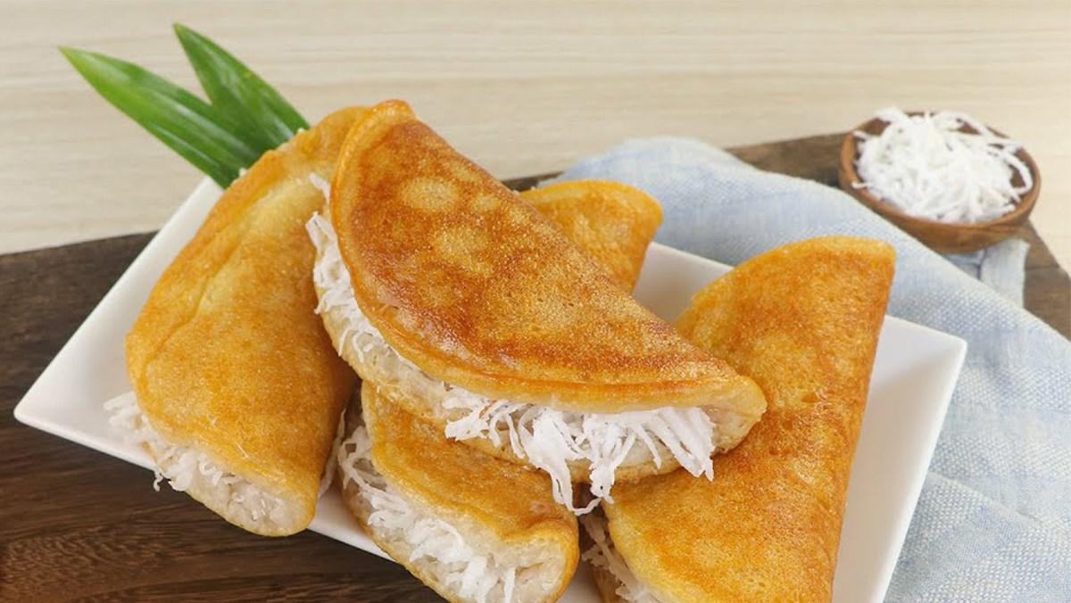 Bánh bò nướng nhân dừa bằng chảo