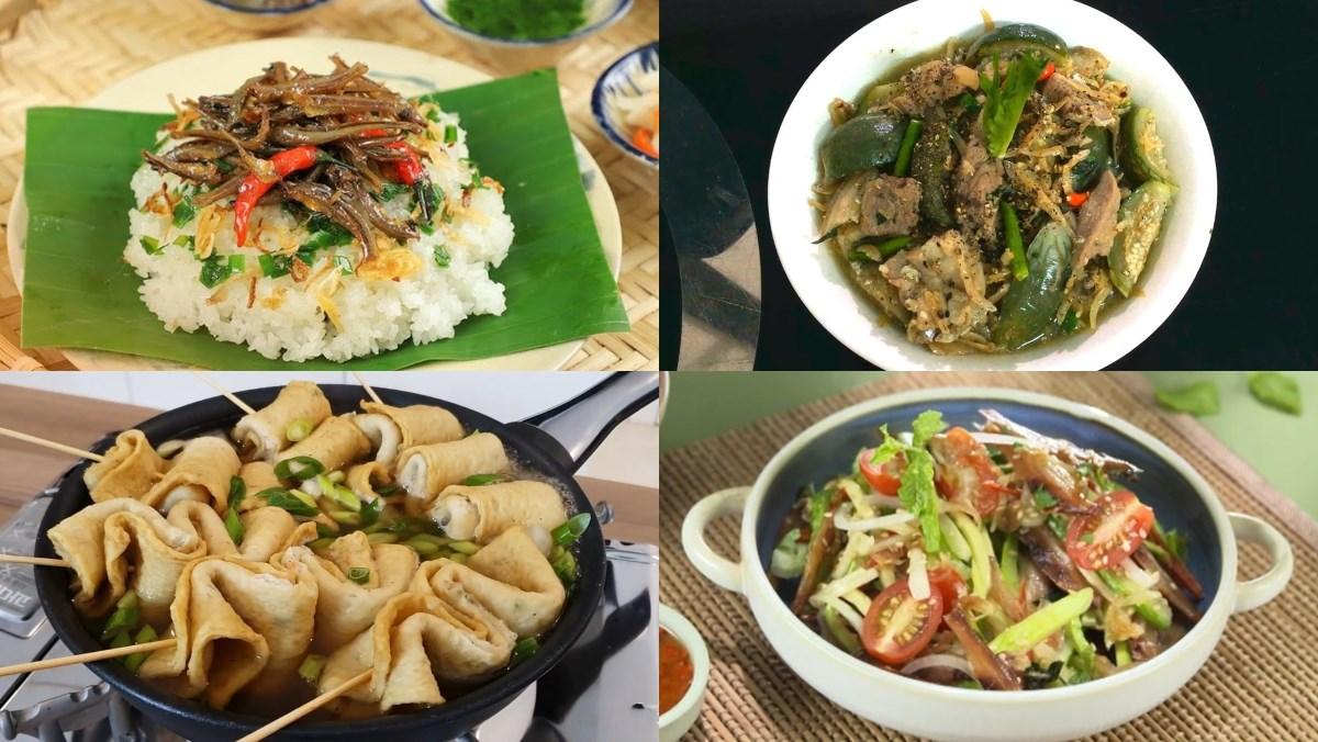 Món ăn từ cá cơm khô
