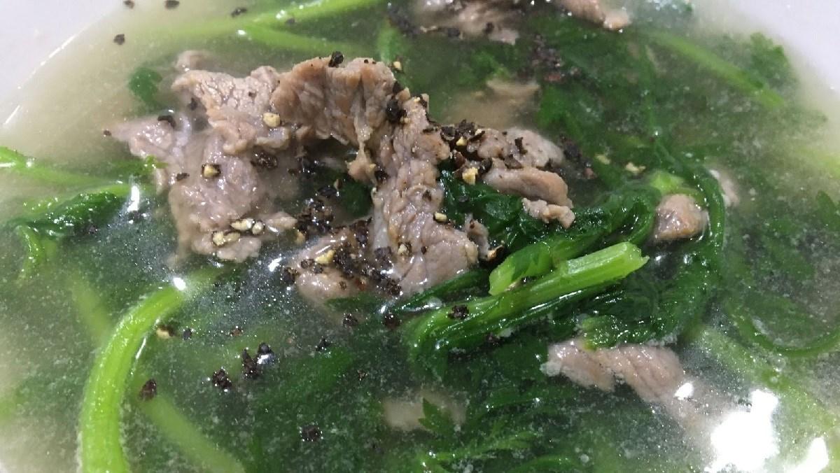 Canh cải cúc thịt bò