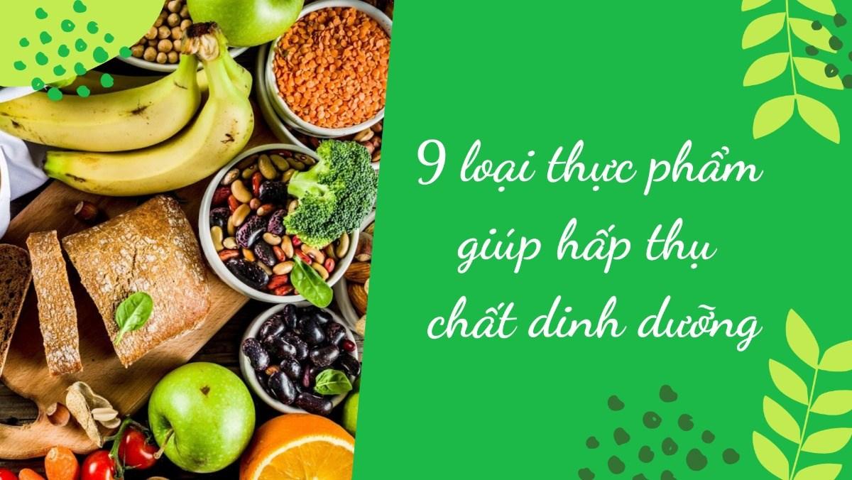 Thực phẩm giúp hấp thụ chất dinh dưỡng
