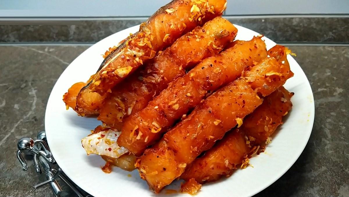Khô cá hồi làm bằng lò sấy