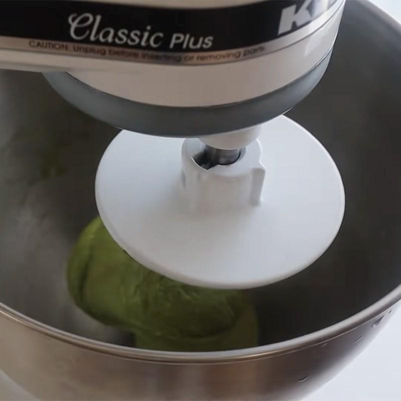 Bước 2 Nhồi với bơ và ủ bột Bánh papparoti trà xanh