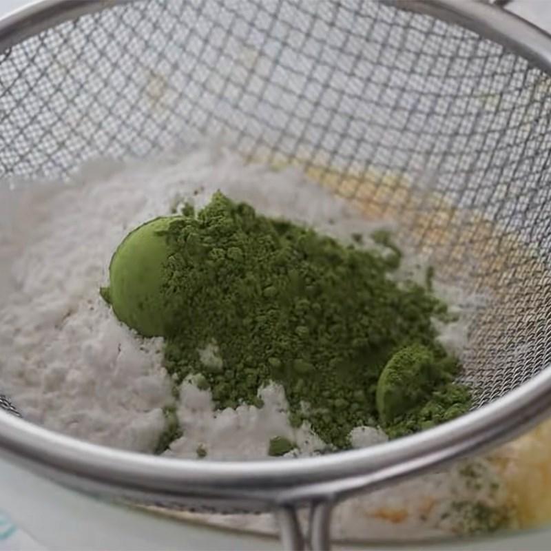 Bước 3 Làm lớp kem phủ matcha Bánh papparoti trà xanh