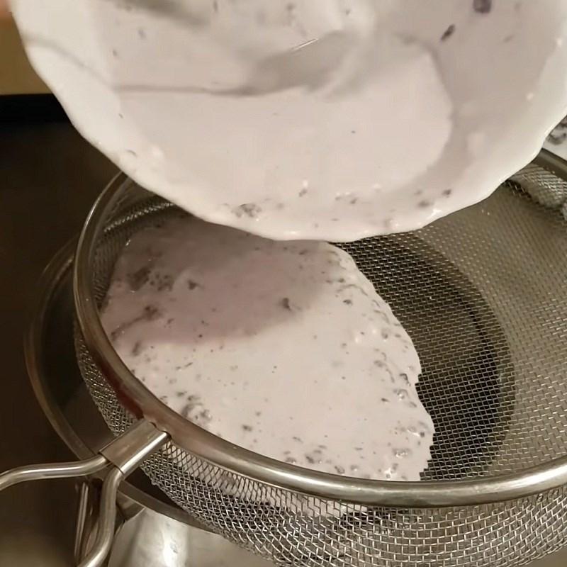 Bước 3 Hấp và nấu khoai lang tím cốt dừa Xôi khoai lang tím