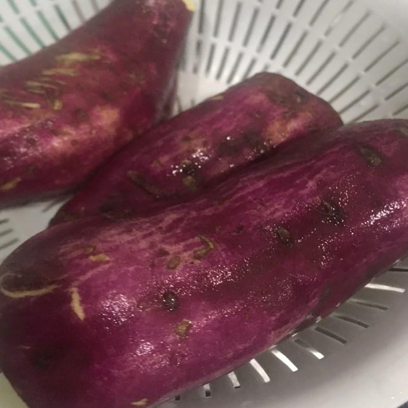 Bước 1 Chế biến món ăn Khoai lang nướng mỡ hành phô mai bằng nồi chiên không dầu
