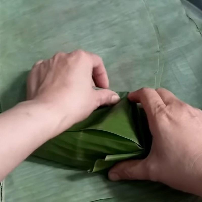 Bước 5 Gói bánh Bánh ít nếp xào nhân dừa đậu