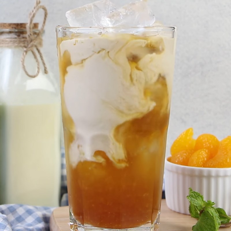 Bước 4 Hoàn thành Trà sữa thạch cam