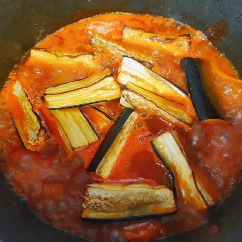 Bước 3 Kho cà tím Cà tím sốt cà chua
