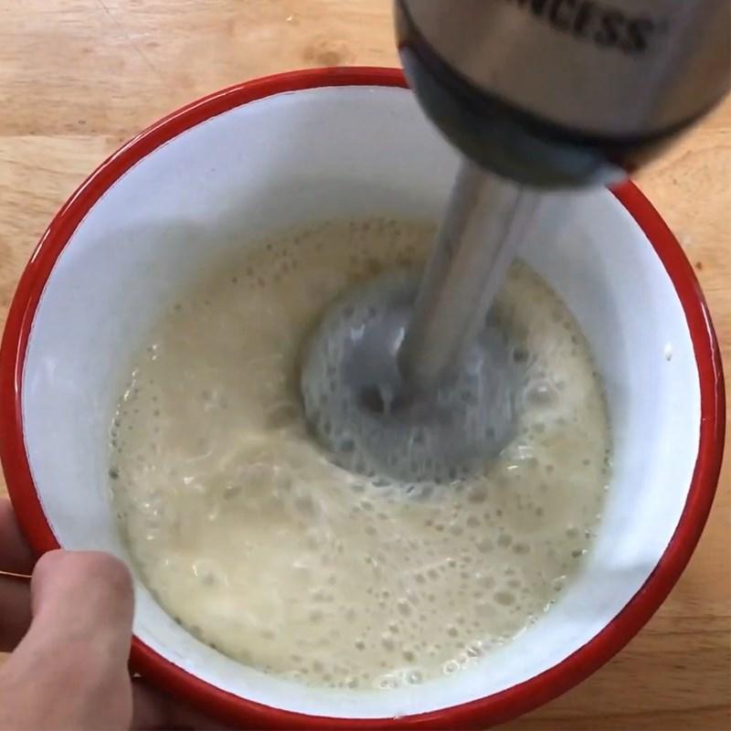 Bước 2 Làm hỗn hợp nhân kem vải Bánh macaron vải