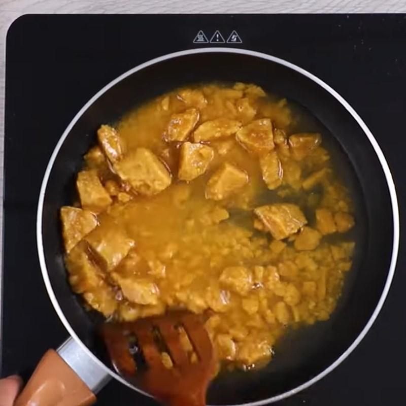 Bước 5 Làm nhân dừa thốt nốt Bánh Crepe cuộn dừa từ lá dứa và bí đỏ