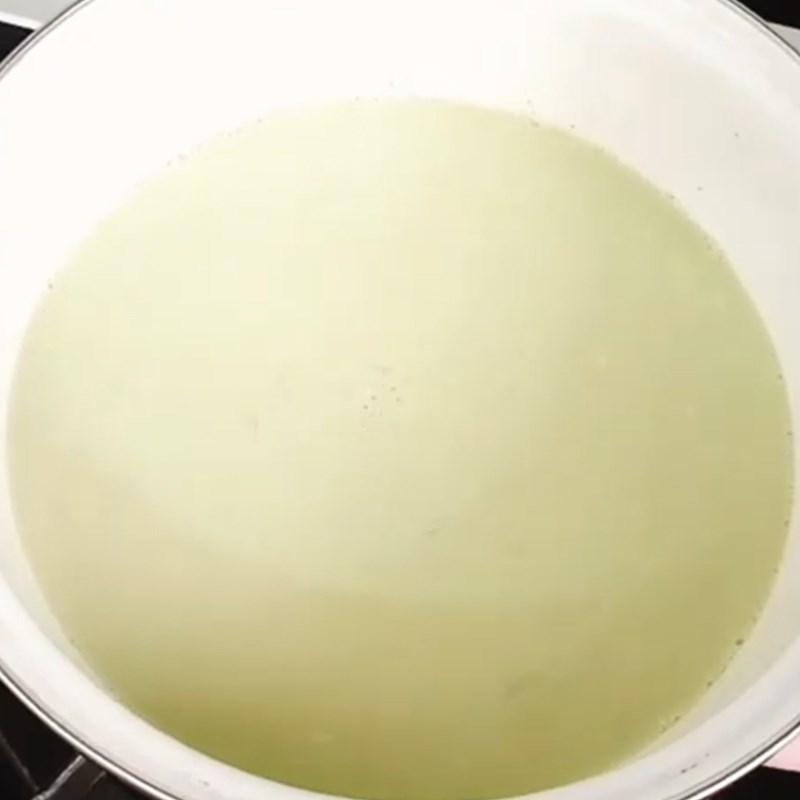 Bước 3 Làm nước cốt dừa matcha Chè caramen matcha