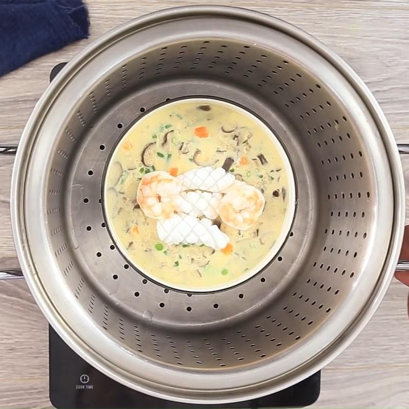 Bước 3 Hấp trứng Trứng hấp hải sản