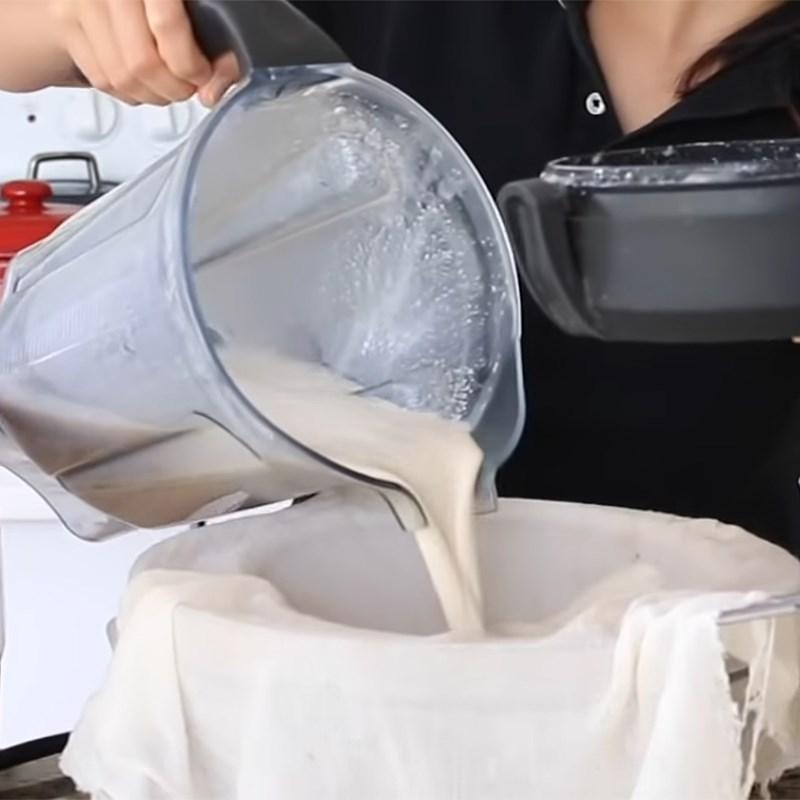 Bước 2 Lọc yến mạch Sữa yến mạch nguyên chất