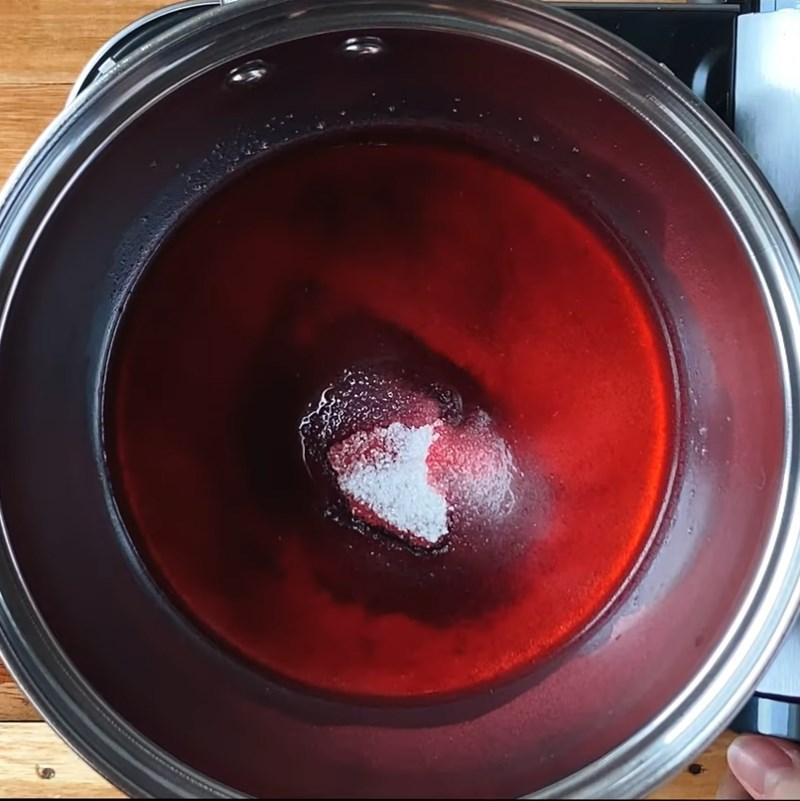 Bước 3 Nấu bột hoa dâm bụt Soda phúc bồn tử (quả mâm xôi) xay