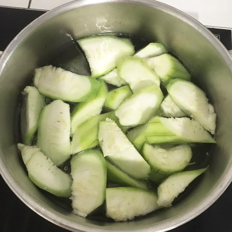 Bước 3 Nấu canh mướp với tép Canh mướp nấu tép
