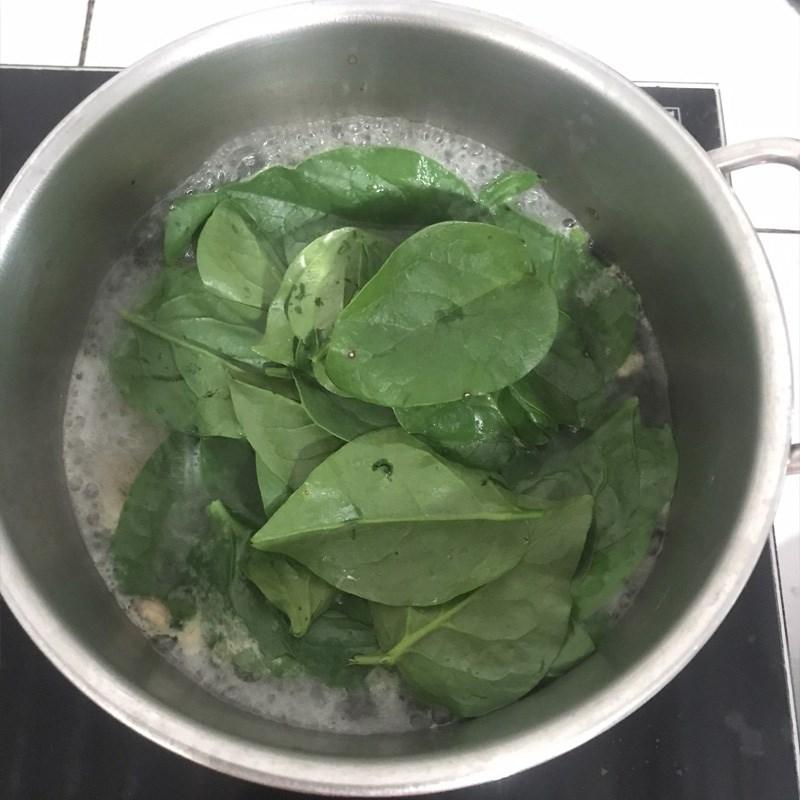 Bước 3 Nấu canh tép với mồng tơi Canh mồng tơi nấu tép đồng