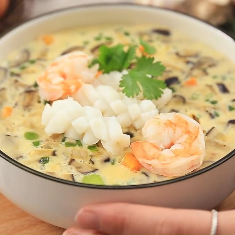 Bước 4 Thành phẩm Trứng hấp hải sản